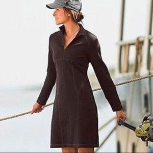 Athleta Brown Cassidy Long Sleeve Half Zip Dress